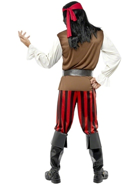 Adult Pirate Ship Mate Costume - Side View