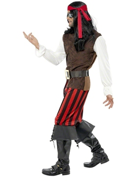 Adult Pirate Ship Mate Costume - Back View