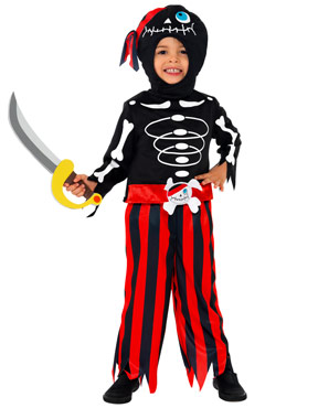 Pirate Skeleton Childrens Costume