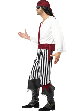 Adult Pirate Costume - Back View