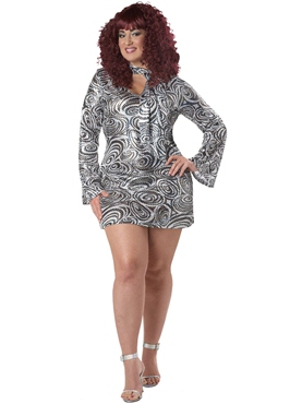 Adult Plus Size Disco Diva Costume