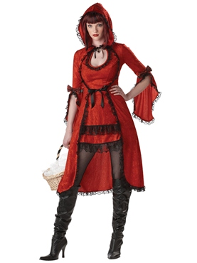 Adult Strangeling Red Riding Hood Costume
