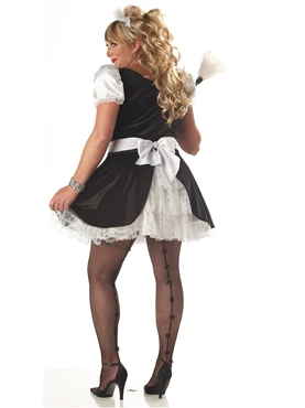 Adult Plus Size Fiona the French Maid Costume - Back View