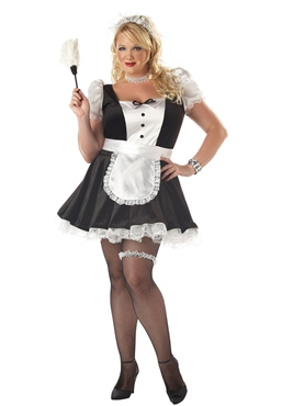 Adult Plus Size Fiona the French Maid Costume