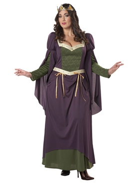 Adult Plus Size Lady in Waiting Costume