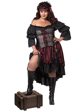 Adult Plus Size Pirate Wench Costume