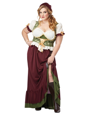 Adult Plus Size Renaissance Wench Costume