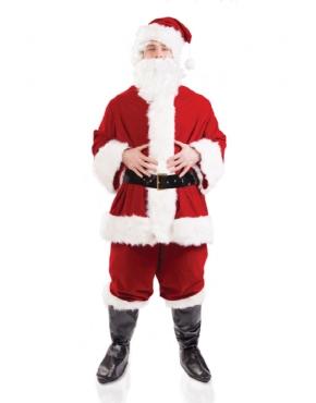 Adult Plush Santa Costume Thumbnail