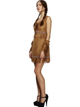 Adult Pocahontas Indian Girl Costume - Back View