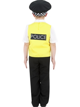 Child Police Boy Costume - Side View
