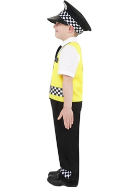 Child Police Boy Costume - Back View