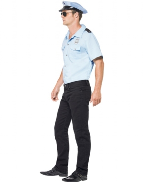 Adult Police Officer Costume - Back View