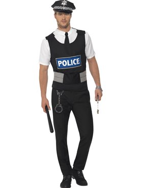 Policeman Instant Kit Couples Costume