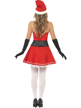 Adult Pom Pom Santa Costume - Side View