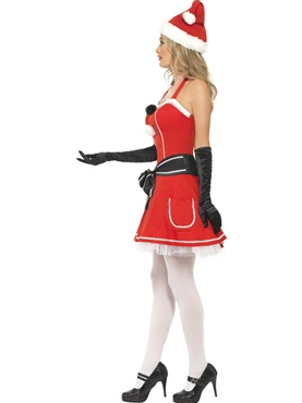 Adult Pom Pom Santa Costume - Back View