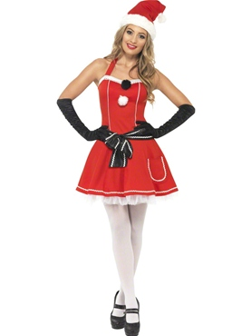 Adult Pom Pom Santa Costume Thumbnail