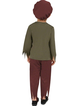 Child Poor Victorian Boy Costume - Side View