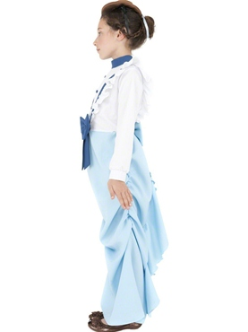 Child Posh Victorian Girl Costume - Back View