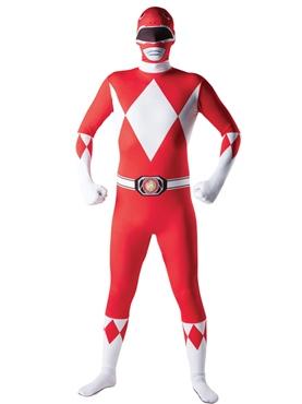 Adult Power Ranger Red Ranger Second Skin Costume