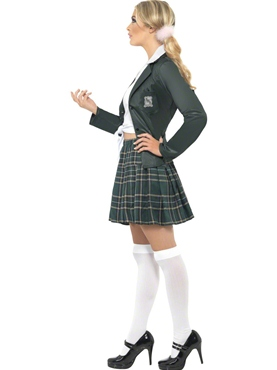 Adult Preppy Schoolgirl Costume - Back View