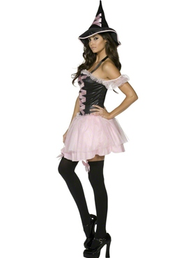 Adult Pretty Witch Costume - Back View