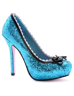 Princess Blue Glitter Pump Shoe
