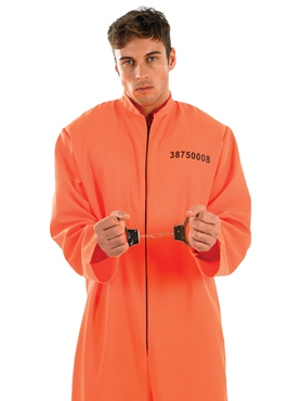 Adult Prisoner Male Costume - Back View