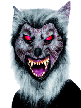Prowler Wolf Mask With Hair Rubber
