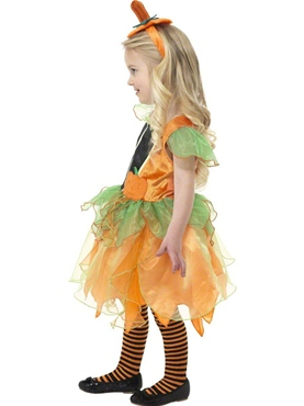 Child Pumpkin Fairy Costume - Side View