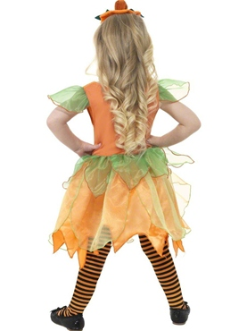 Child Pumpkin Fairy Costume - Back View