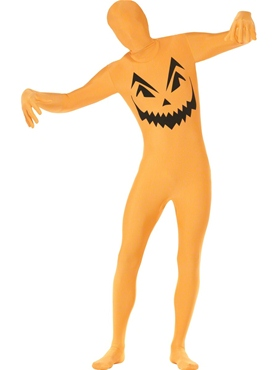 Adult Pumpkin Second Skin Costume Couples Costume