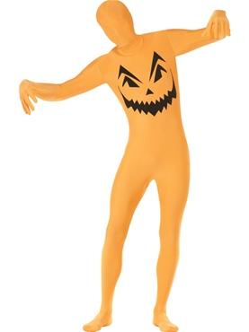 Adult Pumpkin Second Skin Costume