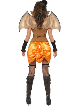 Adult Punk Victorian Bat Costume - Side View