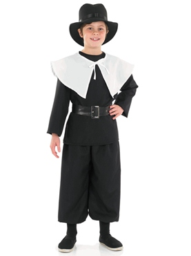Child Puritan Boy Costume - Side View