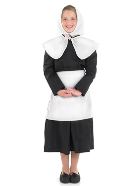 Child Puritan Girl Costume - Side View