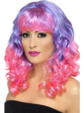 Purple and Pink Divatastic Wig