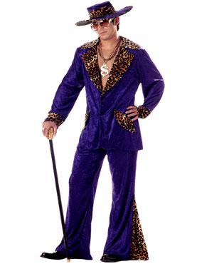 Adult Purple Pimp Costume