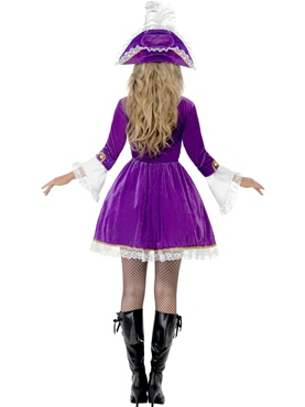 Adult Purple Pirate Beauty Costume - Side View