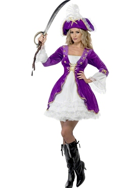 Adult Purple Pirate Beauty Costume