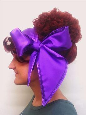 Purple Satin Headscarf