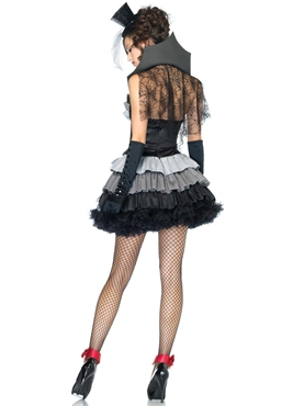 Adult Queen of Darkness Costume - Back View