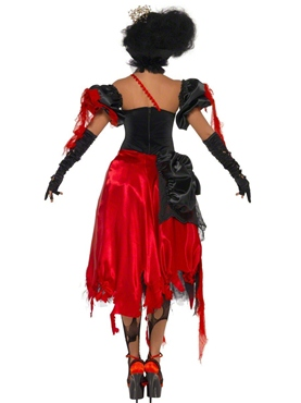 Adult Queen of Hearts Broken Costume - Side View