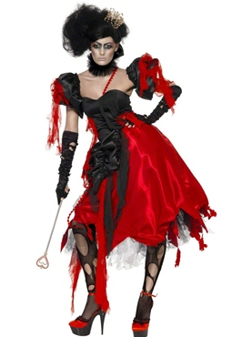 Adult Queen of Hearts Broken Costume