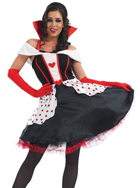 Adult Queen of Hearts Costume - Back View