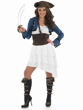 Adult Ra Ra Pirate Girl Costume