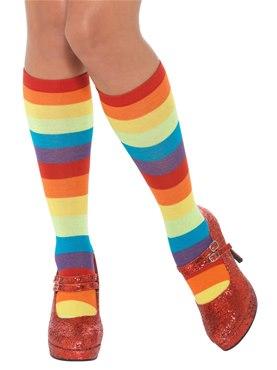 Rainbow Clown Socks