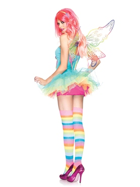 Adult Rainbow Fairy Costume - Back View