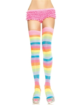 Adult Rainbow Thigh Highs