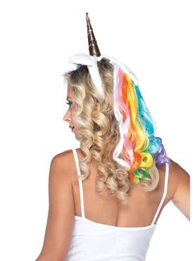 Rainbow Unicorn Headband - Back View