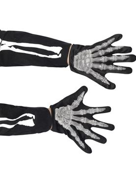 Raised Skeleton Bones Gloves